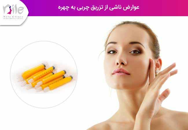 عوارض ناشی از تزریق چربی به چهره